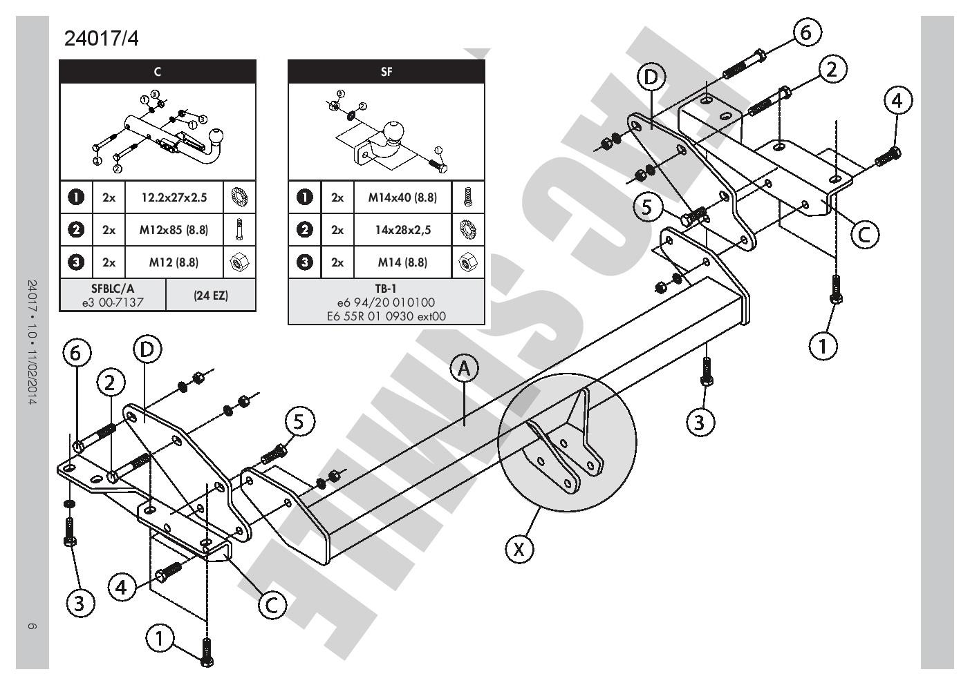 Towbar Disposal Ball And Hook 13p C2 Wiring For Mitsubishi Pajero 4d 2002 Montero Diagram