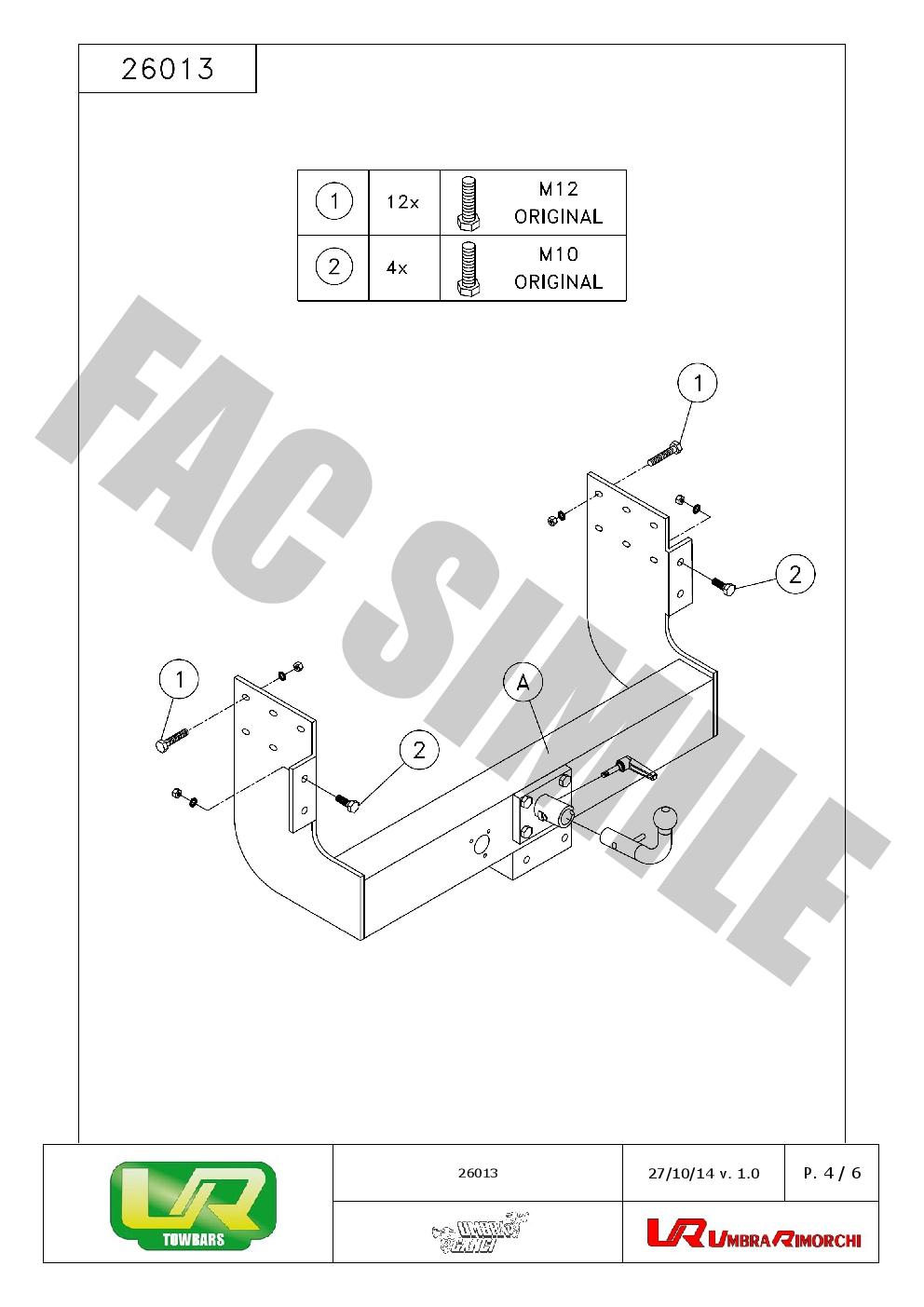 bola de remolque tipo placa kit c2 13p cableado para