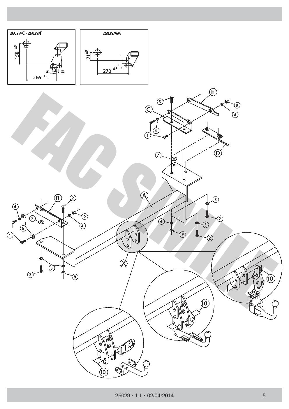 AHK Abnehmbare Anhängerkupplung 7p C2 E-Satz für Nissan QASHQAI+2 07-13 26029/_B2