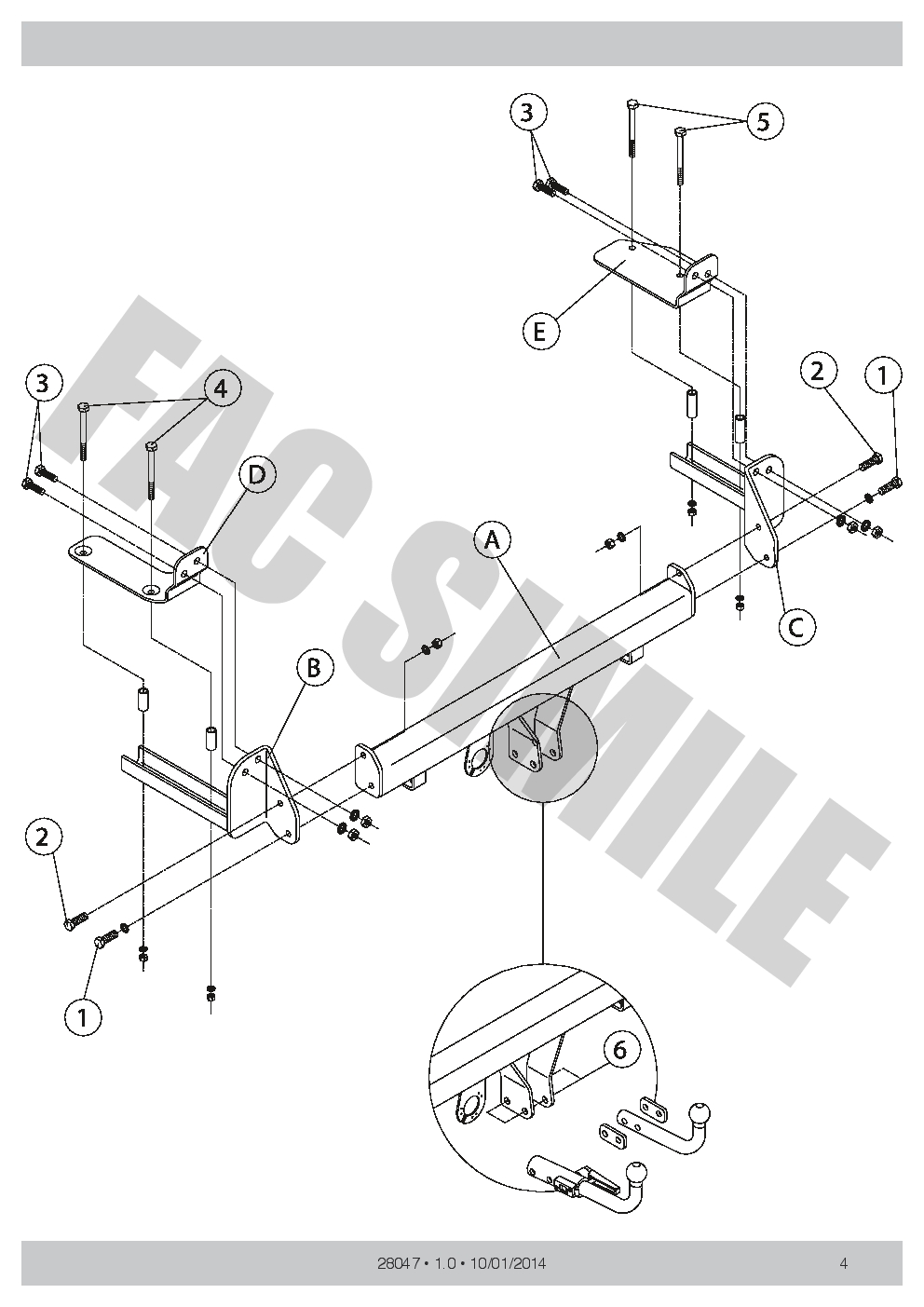 Detachable Towbar 7 pin kit wiring New Car Tow Bar for Opel Vauxhall