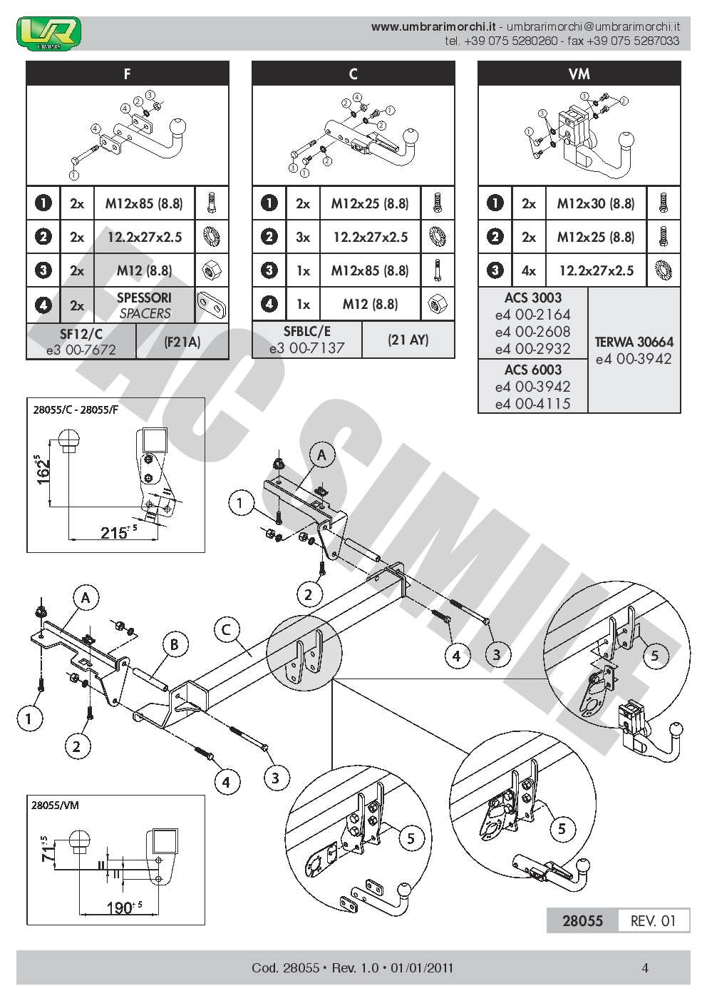 Swan Neck Towbar 7pin Wiring For Opel Vauxhall Zafira B 2005 11 Diagram