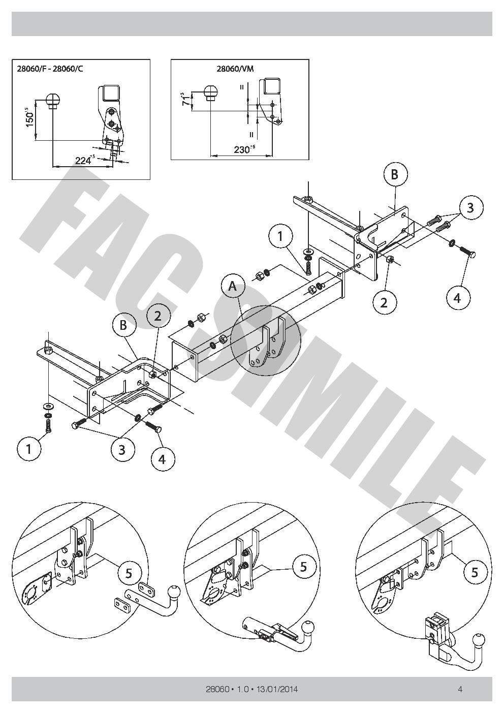 detachable towbar + 7pin wiring for opel vauxhall meriva-b ... vauxhall antara towbar wiring diagram vauxhall vectra c towbar wiring diagram #9