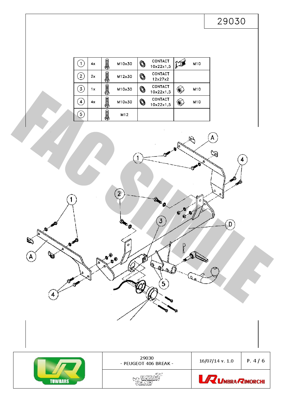Peugeot 406 Towbar Wiring Diagram Library Faults Detachable 7 Pin Kit Bypass Relay