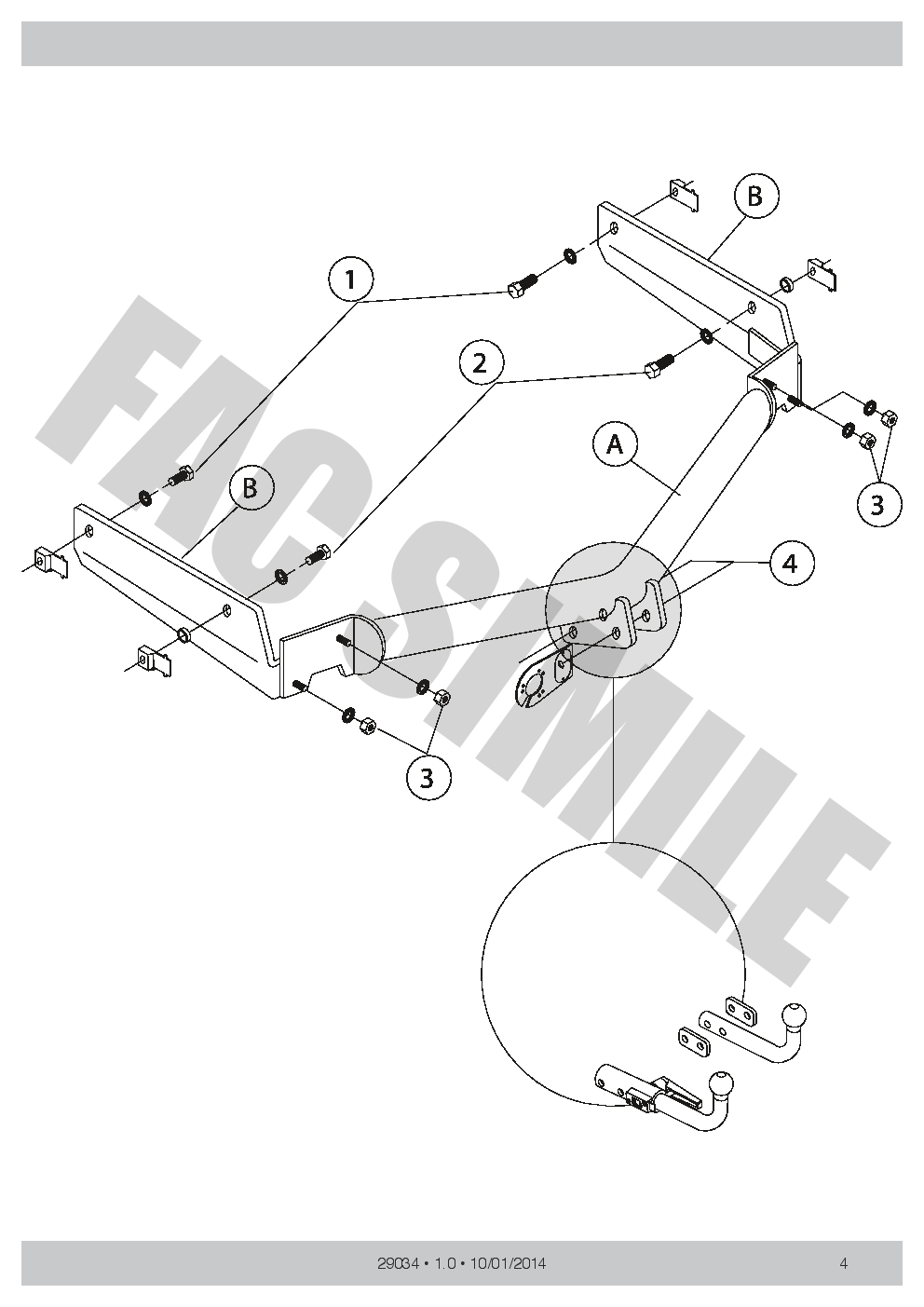 Fixed Swan Neck Towbar For Peugeot 206 Cc 13 Pin Wiring 01 29034 Diagrams