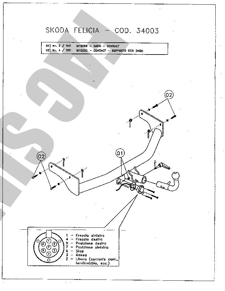 Detachable Towbar 7 Pin Wiring Bypass Relay Car Tow Bar For Skoda