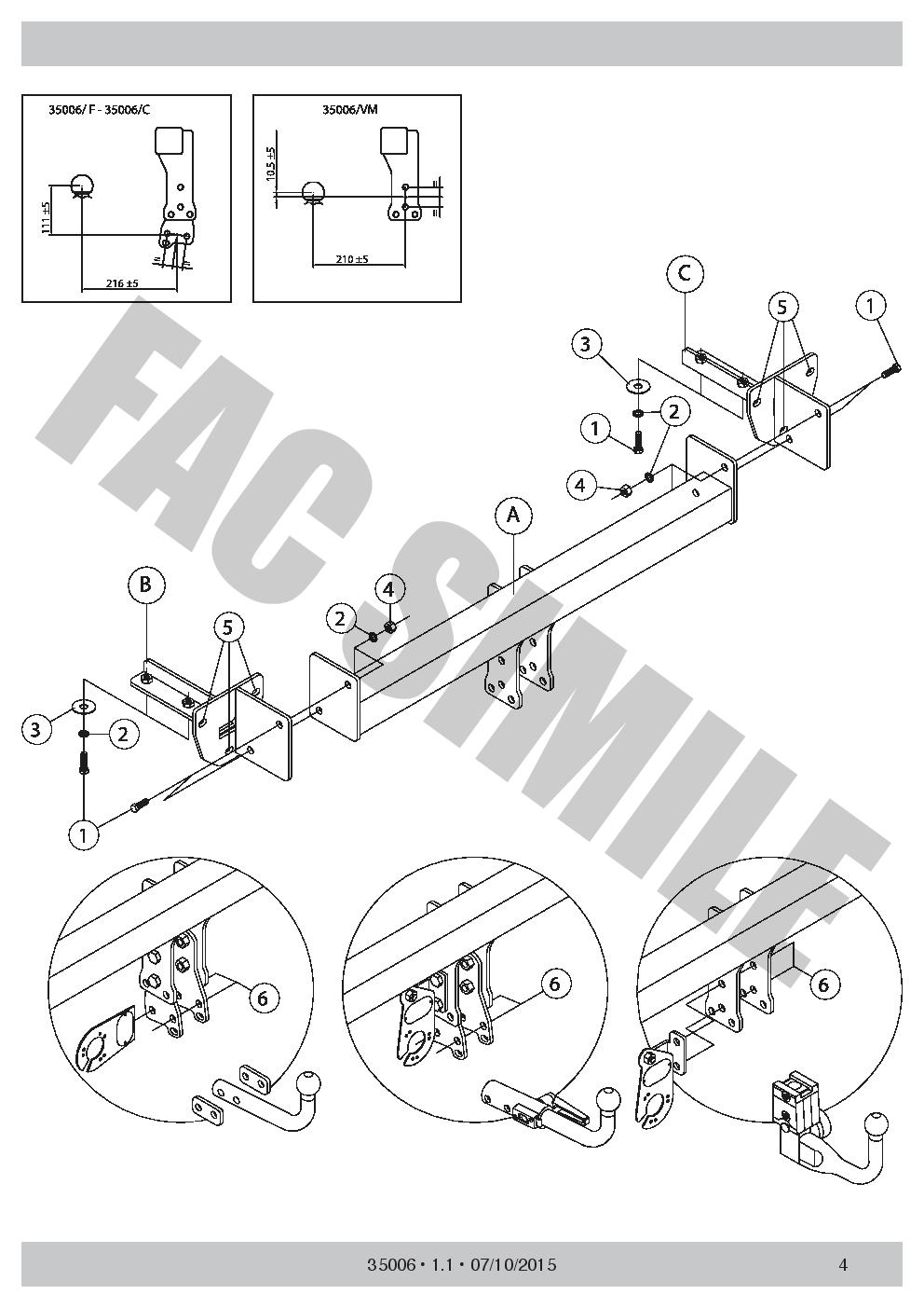 Fixed Swan Neck Towbar 13 Pin Kit C2 Electrics For Subaru Xv 2 4wd Crosstrek Wiring Diagram 2012 2017