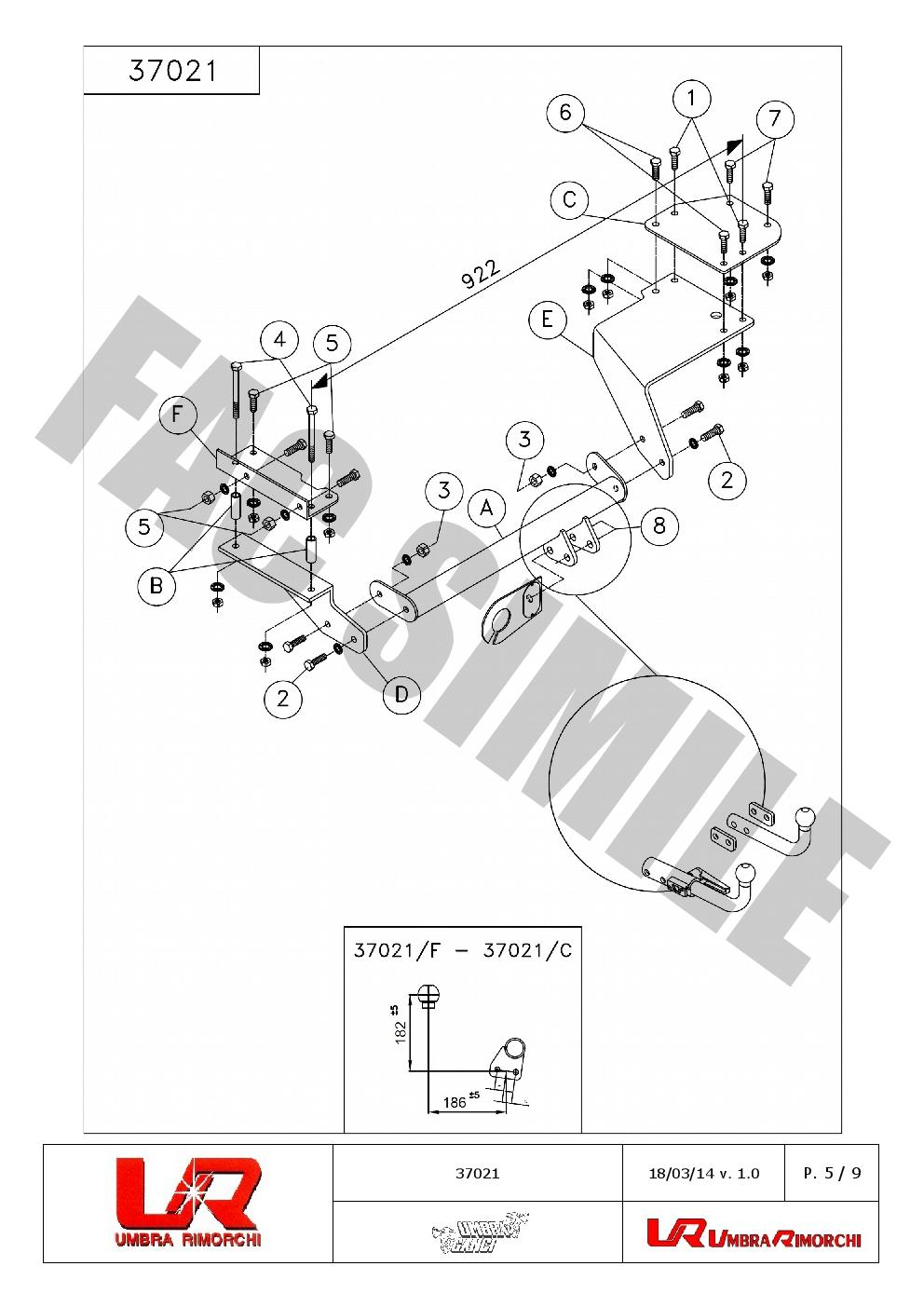 swan neck towbar 13p c2 wiring kit for suzuki swift iii hatch 05 f h1