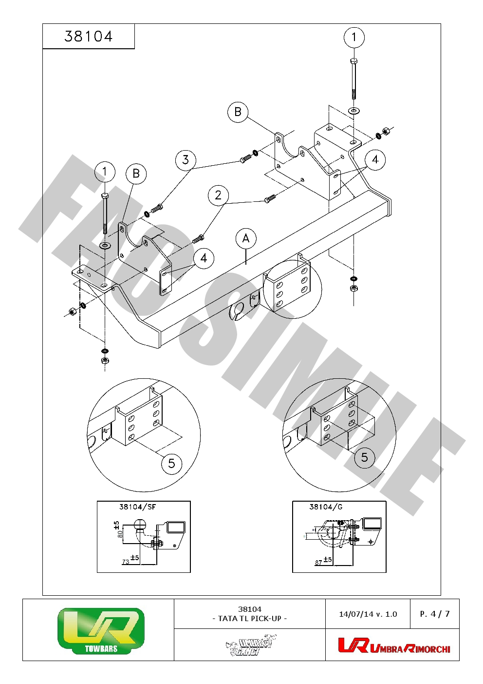 fixed flange towbar manual fit new car tow bar for tata van 38104  sf c1