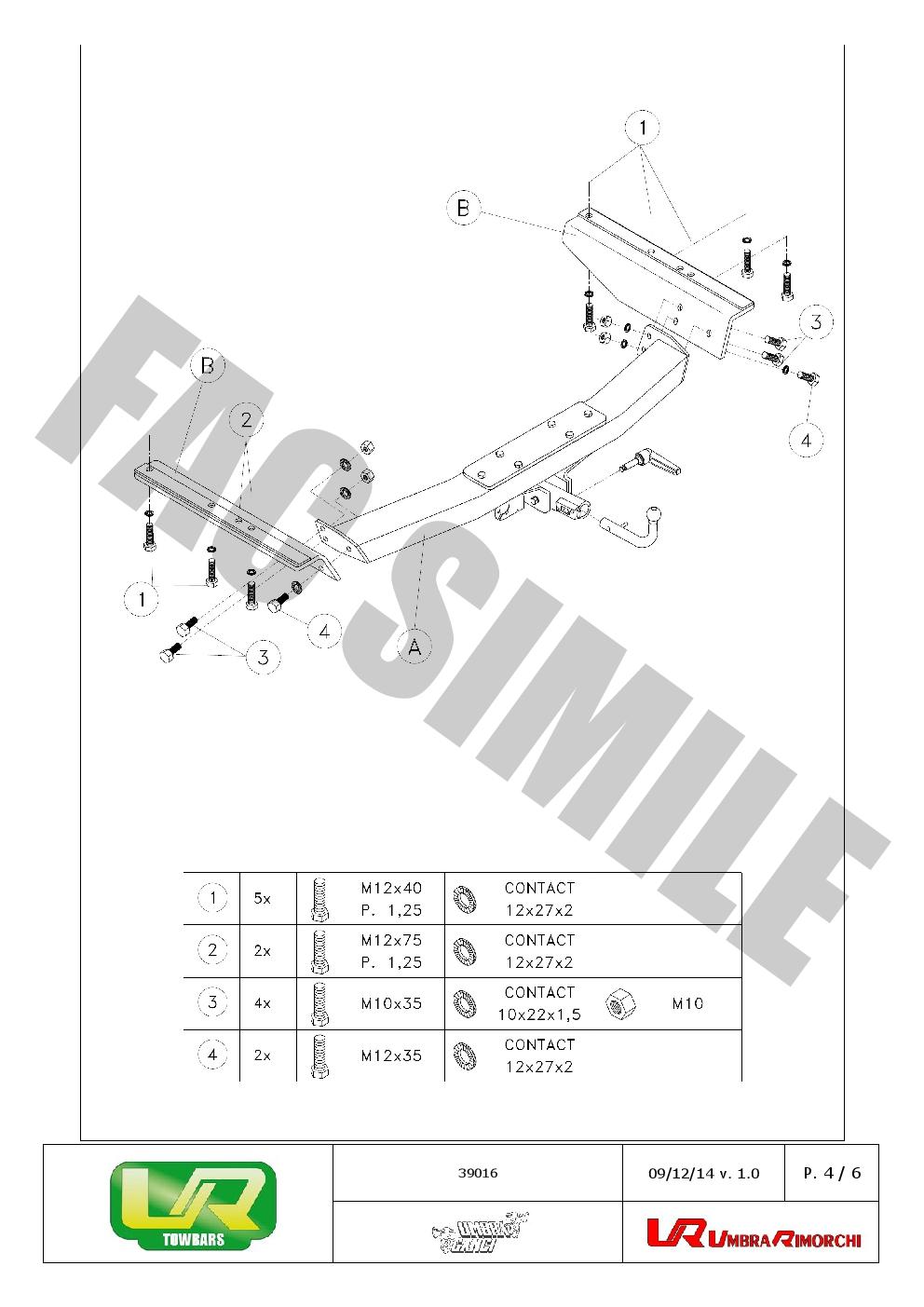 Detach Towbar 13pin C2 Wiring For Toyota Land Cruiser 90 4wd 4dr Schematic
