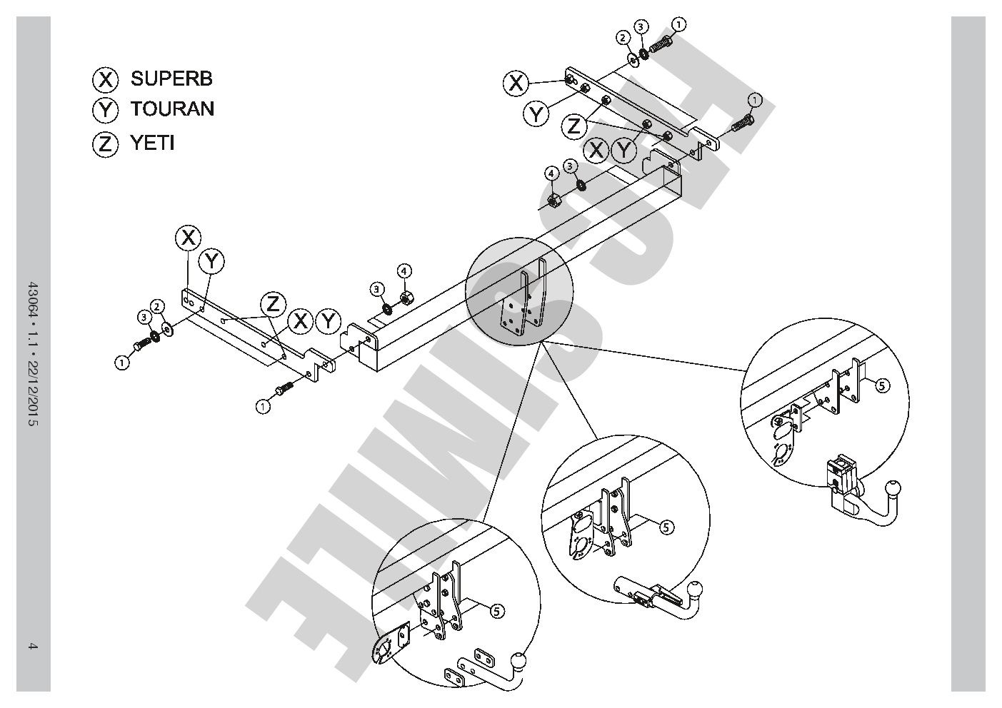 Skoda Yeti Towbar Wiring Diagram 100 Free 7 Pin Detachable For Mpv 09 On Tow Bar Rh Ebay Co