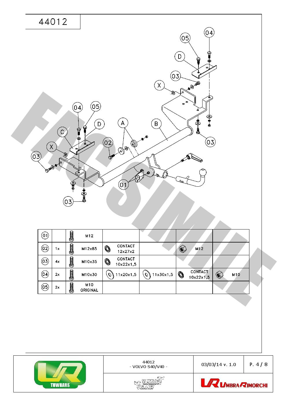 detach towbar   13p c2 wiring kit fits volvo v40 estate restyling 99