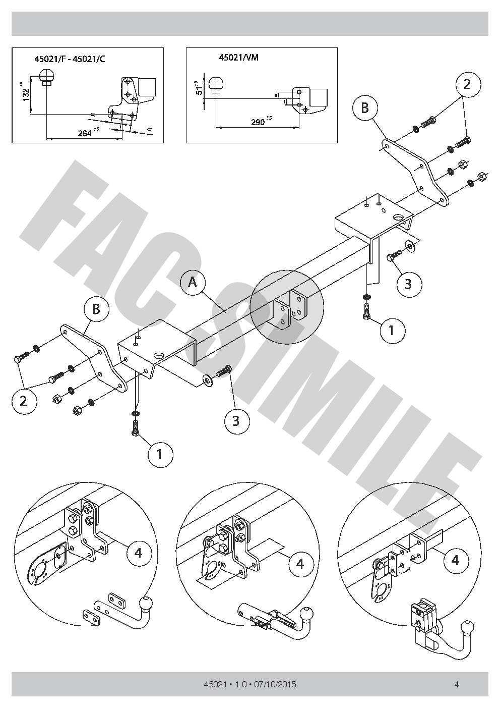 Swan Neck Towbar   7pin Wiring For Kia Sportage Suv 2